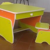 Бесплатная доставка! Столик и стульчики для двоих малышей с регулировкой высоты. Николаев
