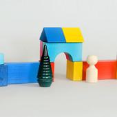 Деревянная игрушка Конструктор 14 деталей, КС-007, Тато