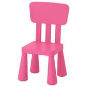 Детский стул, для дома/улицы, розовый Mammut Маммут 803.823.21 Икеа Ikea