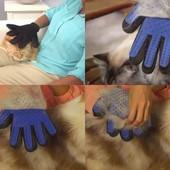 Перчатка для вычесывания шерсти домашних животных True Touch, для собак и кошек