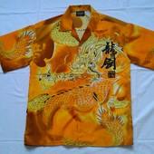 Новая, качественная, яркая мужская рубашка с короткими рукавами