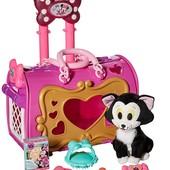 Just Play Minnie Mouse переноска с котиком Фигаро игровой набор чемодан с котиком