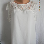Белая блуза с кружевом dorothy perkins