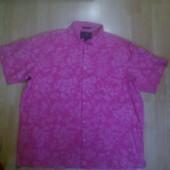 Фирменная рубашка лен+хлопок XXL