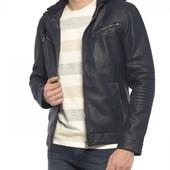 Куртка мужская, демисезонная кожаная кожаная , новая,Турция, S,XS