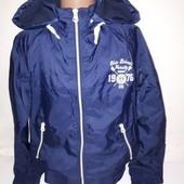 Куртка ветровка Mustard 11-12 лет на флисовой подкладке бу