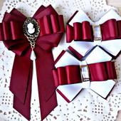 брошь галстук и бантики