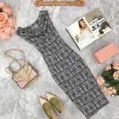 Стильное базовое платье Ghost с абстрактным принтом и хомутом  DR1810110