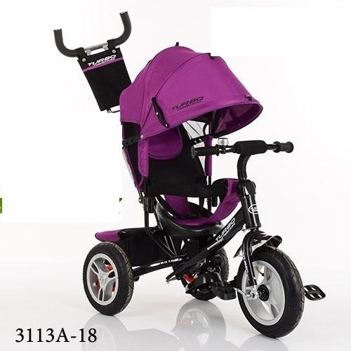 Трехколесный велосипед турбо трайк м 3113 надувные колеса фото №1