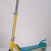 Самокат SC16002 (6шт) железо,2 колеса PVC, колёса пер 125мм задн 100мм, голубой,оранж