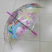 My Little Pony прозрачный зонтик, зонт для девочки Пони