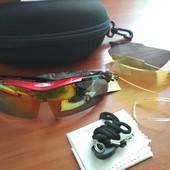 Спортивные очки Robesbon (3 сменные линзы)