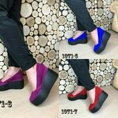 Туфли на платформе, р. 35-41, натур. замша, код es-1071-7 итальянский стиль