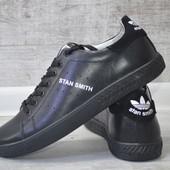 Черные Adidas Stan Smith,