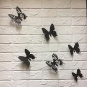 Марфа, 25 шт. Объемные бабочки метелики 3д на стену, авто, декор из картона