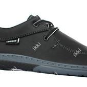 Демисезонные современные мужские туфли на шнуровку (КМ-30чг)