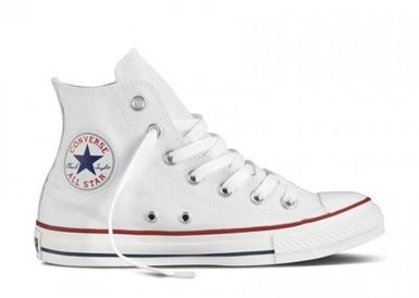 Кеды converse all star high white фото №1