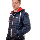 ◘  Демисезонная стильная куртка  с трикотажным капюшоном - 44-54 рр ◘