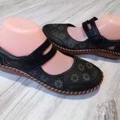 Кожаные туфли Rieker 40р