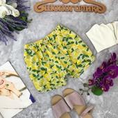 """Легкие шорты с """"лимонным"""" принтом  SR1811179"""
