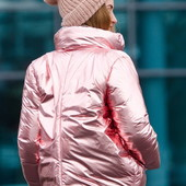 Блестящая демисезонная куртка короткий бомбер