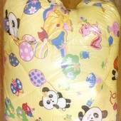 Детское одеяло подушка Зверята, цвет желтый