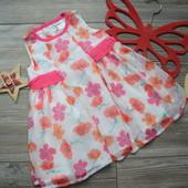 Платье в цветы M&Cо (3-6 мес)