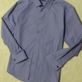 Рубашка в принт с манжетами на запонках  Next, р.52-54
