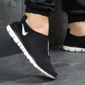 Кроссовки низкие сетка Nike Free ran 3.0 black/white