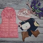 5 - 6 лет 110 см Обалденно модная фирменная теплая жилетка жилет Зара Zara
