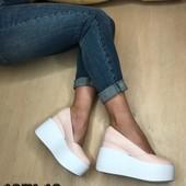 Туфли на платформе, р. 35-41, код es-1071-10 итальянская кожа