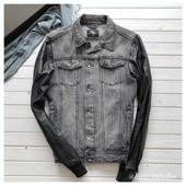 Мужская джинсовка Cedarwood State с кожаными рукавами рр M