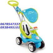 Smoby Машинка-Каталка с ручкой 2 в 1 синяя Bubble Go Blue 720101