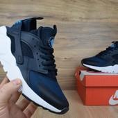 Кроссовки мужские сетка Nike Huarache dark blue