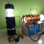 Кемпинговая LED лампа, фонариком и солнечной панелью SB-9688