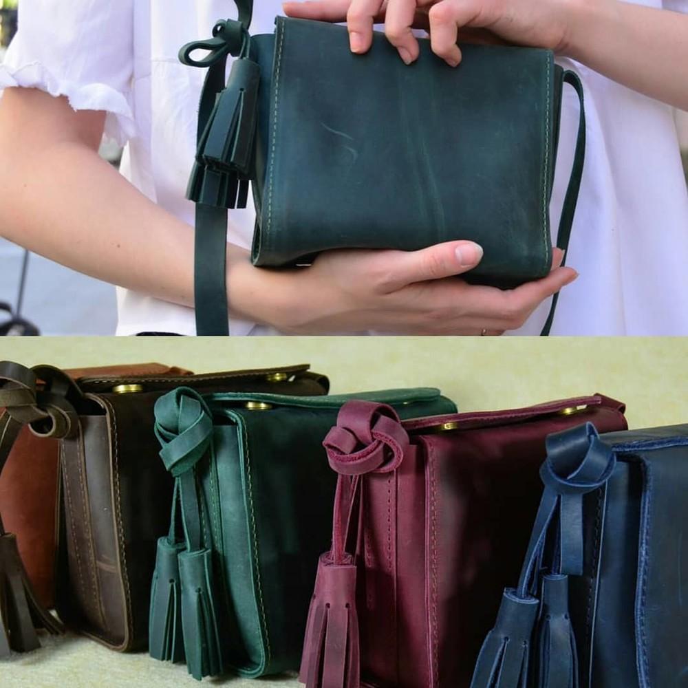 0df6e1435342 Кожа. ручная работа. кожаная женская сумка, сумочка красная, черная, зеленая ,