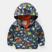 Ветровка. Куртка с динозаврами.