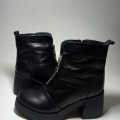 Новинка! Ботинки деми / Кожа натуральная код:Модель: 524-96, черная кожа.
