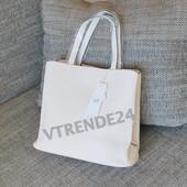 #16553 Gernas White Женская плотная сумка, внутри три отделения