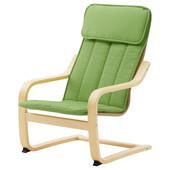 Кресло детское - березовый шпон/алмос зеленый 902.993.93 Poäng, Поэнг Икеа Ikea В наличии