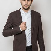 Пиджак мужской , классический Коричневый