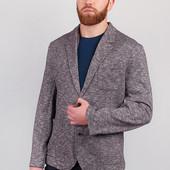 Пиджак мягкий без подкладки мужской Серый меланж