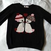 Нарядный свитер H&M р.128