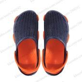 Мужские кроксы. Синие с оранжевым.