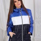 """Куртка деми """"True color"""" 42-50 - цвета"""