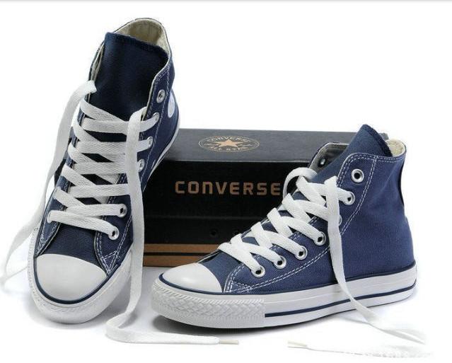 Кеды синие высокие converse all star конверс конверсы размеры 35 - 45 фото  №1 6ed618897e848