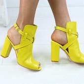 Туфли на устойчивом каблуке, р. 36-40, код ks-3002-2