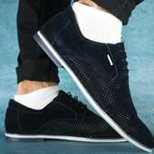 Туфли Yuves с перфорацией, р. 40-45, код gavk-10120