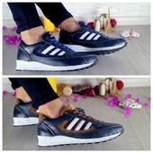 Кроссовки Adidas, подросток, р. 32-39, кожаные, код gavk-10246