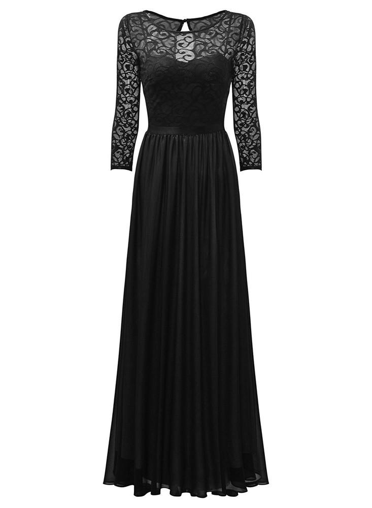 Роскошное длинное вечернее платье miusol, гипюровый верх, р.s фото №4